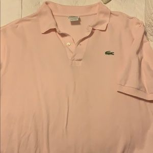 Lacoste light pink polo